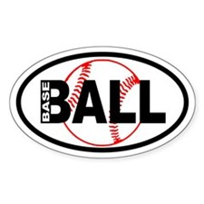 Baseball Ball Background Oval Decal