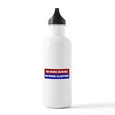 No More Bushes, No More Clintons Water Bottle