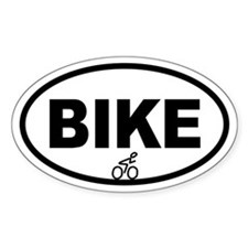 Cycling Biker Oval Decal