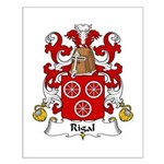 Rigal Family Crest Small Poster
