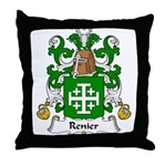 Renier Family Crest Throw Pillow