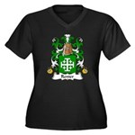 Renier Family Crest Women's Plus Size V-Neck Dark