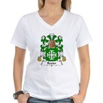 Renier Family Crest Women's V-Neck T-Shirt
