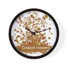 Compost Happens Wall Clock
