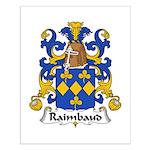 Raimbaud Family Crest  Small Poster