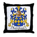 Raimbaud Family Crest  Throw Pillow