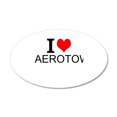 I Love Aerotow Wall Decal