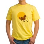 Sunset Horse Yellow T-Shirt