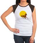 Sunset Horse Women's Cap Sleeve T-Shirt
