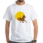 Sunset Horse White T-Shirt