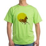 Sunset Horse Green T-Shirt