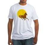 Sunset Horse Fitted T-Shirt