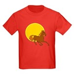 Sunset Horse Kids Dark T-Shirt