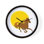 Sunset Horse Wall Clock