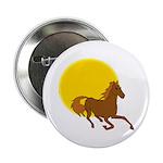 Sunset Horse Button