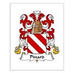 Pinard Family Crest  Small Poster