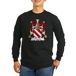 Pinard Family Crest Long Sleeve Dark T-Shirt