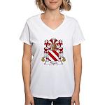Pinard Family Crest  Women's V-Neck T-Shirt