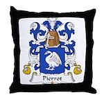 Pierrot Family Crest Throw Pillow