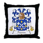 Pierres Family Crest Throw Pillow