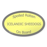 Spoiled Icelandic Sheepdogs On Board Sticker-Oval