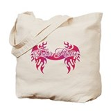 Sober Hottie Tattoo Pink Flames Tote Bag