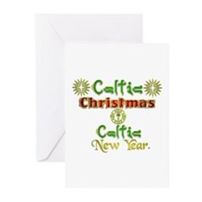 Celtic Xmas and New Year. Greeting Cards (Pk of 10