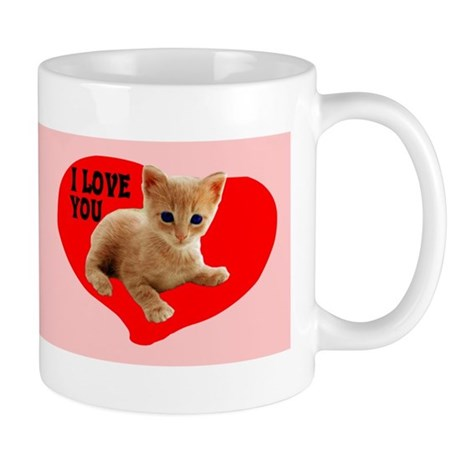 I Love You Kitten Mug
