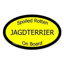 Spoiled Jagdterrier On Board Oval Decal