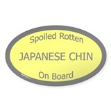 Spoiled Japanese Chin On Board Oval Decal