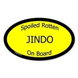Spoiled Jindo On Board Oval Decal