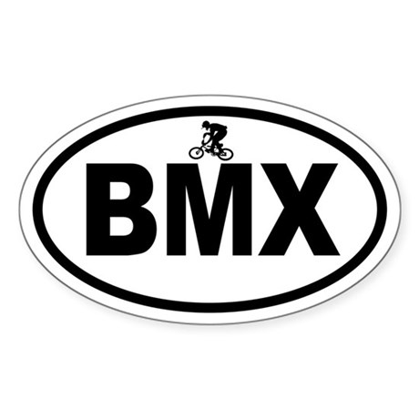BMX Rider Oval Sticker