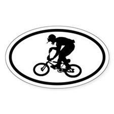 BMX Rider Oval Decal