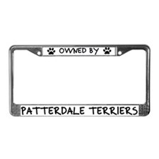 Owned by Patterdale Terriers License Plate Frame