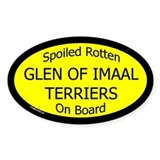 Spoiled Glen of Imaal Terriers Oval Decal