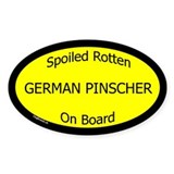 Spoiled German Pinscher On Board Oval Decal