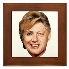 Billary Clinton Framed Tile