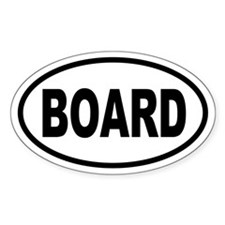 Basic Skateboarding Oval Decal