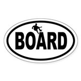 Skateboarder Oval Decal