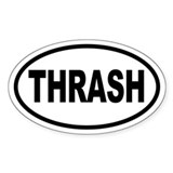 Thrash Oval Decal