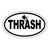 Thrasher Skateboarding Oval Decal