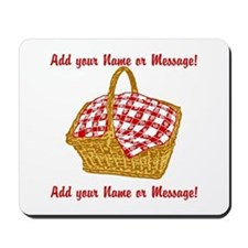 Personalized Picnic Basket Mousepad