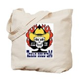 Cowboy Skull Texas Hold'em Poker Tote Bag