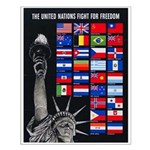 United Nations Freedom Small Poster