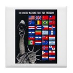 United Nations Freedom Tile Coaster