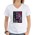 United Nations Freedom Women's V-Neck T-Shirt