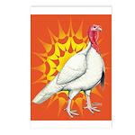 Sunburst White Turkey Postcards (Package of 8)
