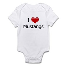 I Love Mustangs Infant Bodysuit