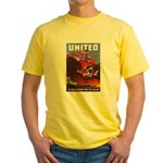 Fight For Freedom (Front) Yellow T-Shirt