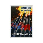 United We Win Rectangle Magnet